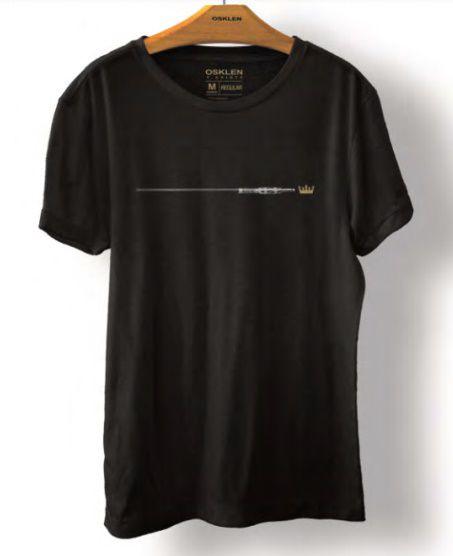Camiseta Osklen Vintage Plug Masculina Preto