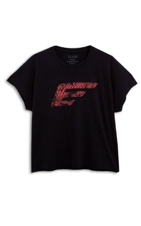 Camiseta Ellus Easa Snake Feminina Preta