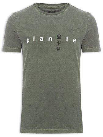 Camiseta Osklen Stone Planet Eco Masculina Verde