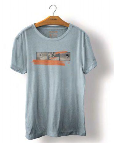 Camiseta Osklen Stone 8MM Masculina Azul