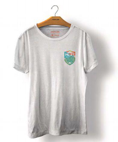 Camiseta Osklen Big Shirt Brasão Hidrocolor Masculina