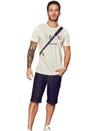 Camiseta Colcci Linho Estampada Masculina