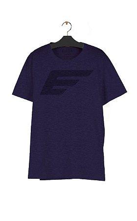 Camiseta Ellus Melange Maxi Easa Masculina Mescla Roxo