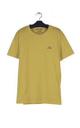 Camiseta Ellus Fine Aquarela Masculina Amarela