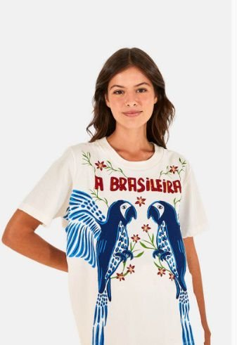 T-Shirt Farm Fit Silk A Brasileira Feminina