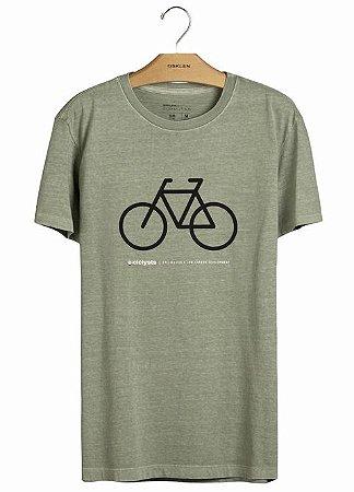 Camiseta Osklen Slim Stone Cycling Masculina Verde