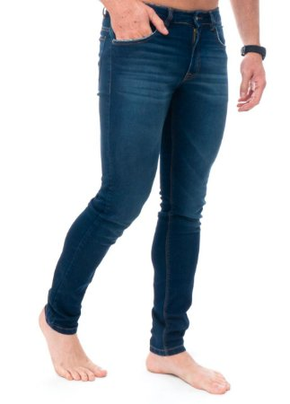 Calça Red Feather Jeans Blue Poídos Bolsos Skinny Masculina
