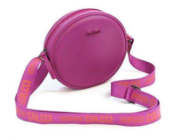 Bolsa Colcci Quebek Logomania Feminina Rosa Pink