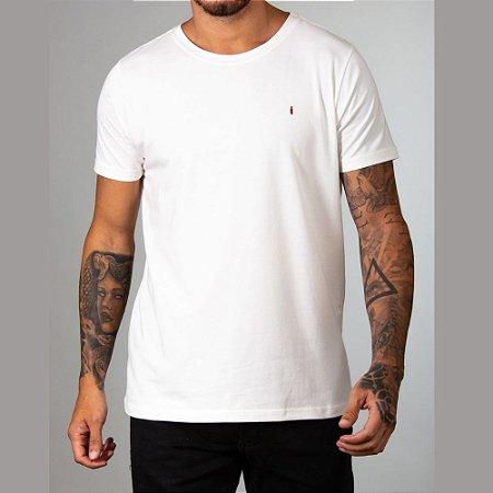 Camiseta Red Feather Básica Gola Canoa Masculina Off White