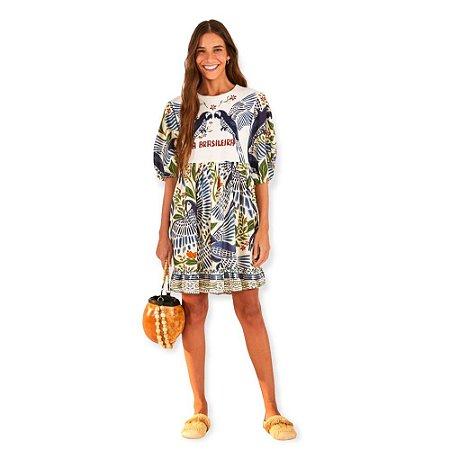Vestido Farm Curto Silk a Brasileira
