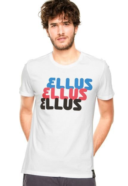 Camiseta Ellus Celebrating Branca