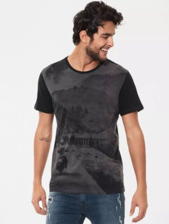 CAMISETA ELLUS DELUXE CO FINE MOTO ADVENTURE CLASSIC MC