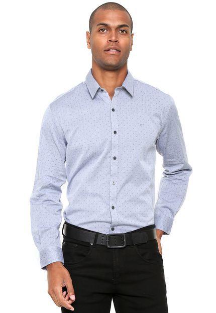 camisa Ellus Wing Skin Classic AZUL masculino