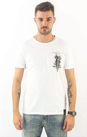 Camiseta Ellus Fine Motorcicle Branca