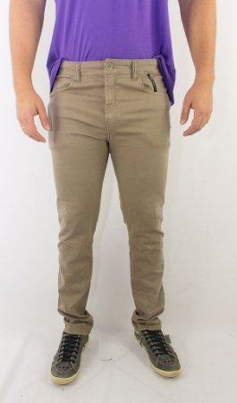 Calça Ellus SOFT COLOR LY STEFAN SLIM MASCULINA BEJE