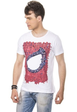 CAMISETA MASCULINA SPIDER RED FEATHER