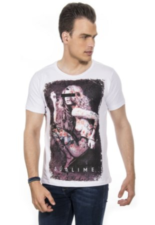 CAMISETA MASCULINA SUBLIME RED FEATHER