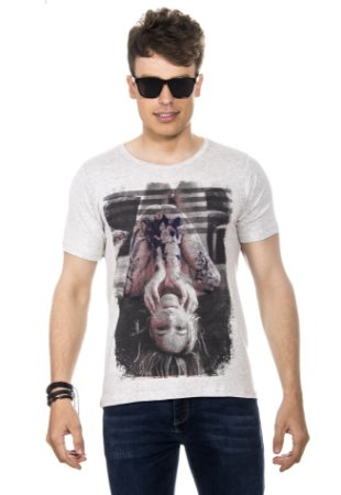 CAMISETA MASCULINA UPSIDE DOWN RED FEATHER