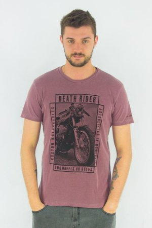 Camiseta Vintage Death Rider Ellus - LILÁS