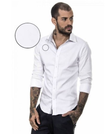 CAMISA SOCIAL RED FEATHER MASCULINA