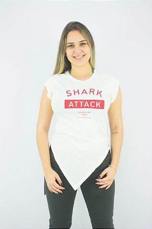 CAMISETA ELLUS FEMININA CO VINTAGE SHARK ATTACK CARECA MC