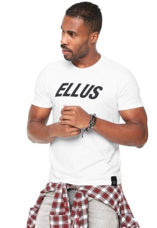 Camiseta Ellus Italic Branca Cotton Fine - masculino