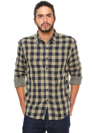 CAMISA ELLUS 2ND FLOOR DOUBLE FACE CHECK MASCULINA
