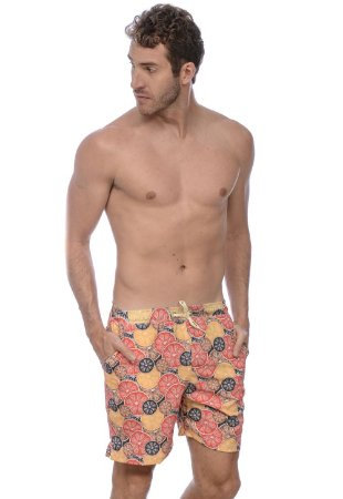 SHORT PRAIA CÍTRICO RED FEATHER MASCULINO