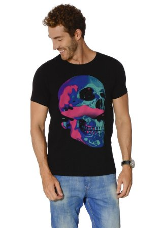 CAMISETA RED FEATHER COLOR BLOCK SKULL
