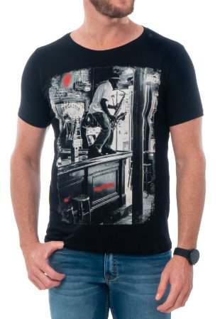 CAMISETA BAR SOLO RED FEATHER