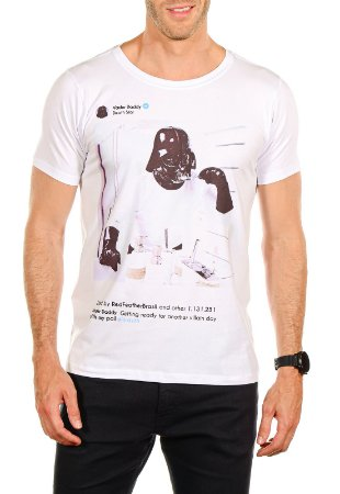 CAMISETA POST DARTH VADER RED FEATHER