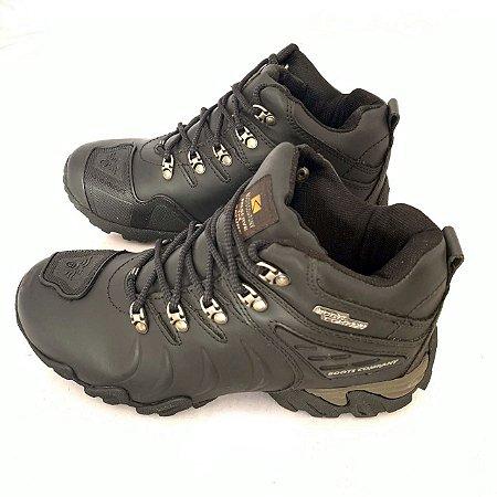 Bota masculina Boots Company Adventure Original preto couro