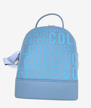 Mochila COLCCI Logomania Plastic AZUL feminina