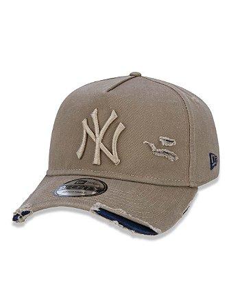 BONÉ NEW ERA  ABA CURVA DESTROYED MLB NEW YORK NUDE