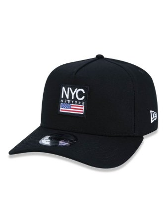 BONÉ NEW ERA 9FORTY A-FRAME CITIES NYC PRETO