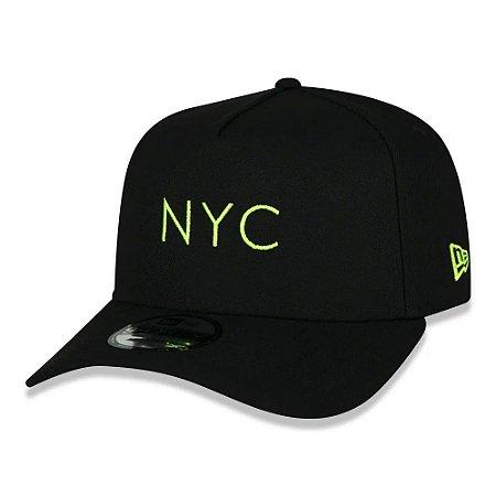 BONÉ NEW ERA SIMPLE SIGNATURE FLUOR NYC PRETO e AMARELO