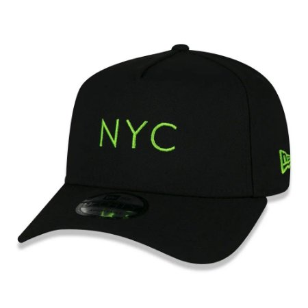 BONÉ NEW ERA SIMPLE SIGNATURE FLUOR NYC PRETO e VERDE