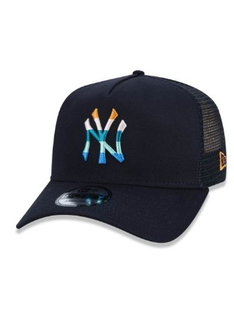 BONÉ NEW ERA AJUSTÁVEL LOGO COLORS MLB NEW YORK YANKEE AZUL
