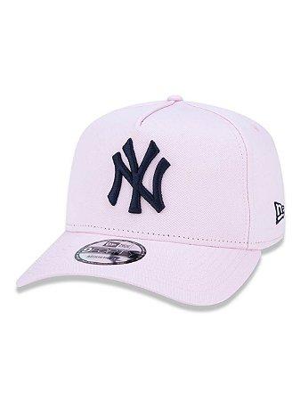 Boné NEW ERA ABA CURVA AJUSTÁVEL MLB NEW YORK ROSA CLARO