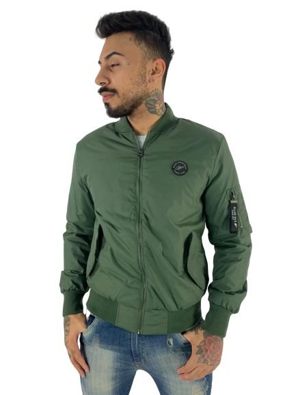 JACKET ELLUS TAFETA COATING POCKET BOMBER MASCULINA VERDE