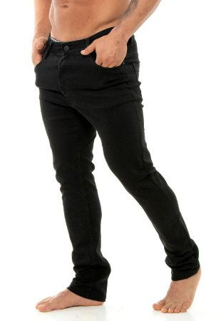 CALÇA RED FEATHER JEANS SKINNY BLACK WASHED MASCULINA