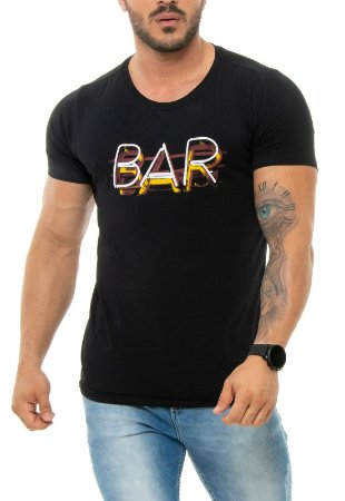 CAMISETA RED FEATHER BAR NEON MASCULINA