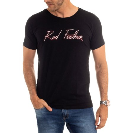 CAMISETA RED FEATHER NEON MASCULINA