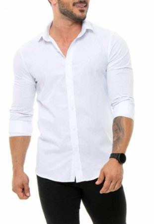 CAMISA RED FEATHER MASCULINA SLIM BRANCO