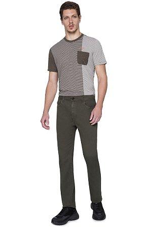 Calça Ellus St Slim color verde masculina