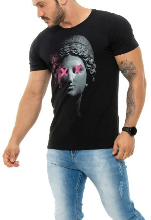 CAMISETA RED FEATHER LIGHT STATUE MASCULINA
