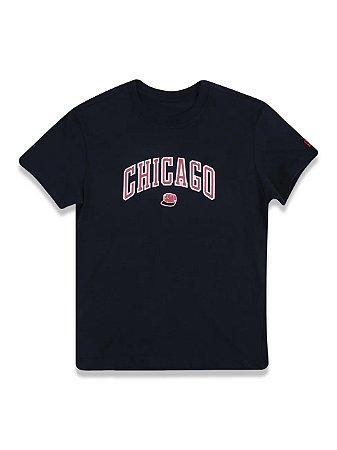 Camiseta New Era Chicago preto masculina