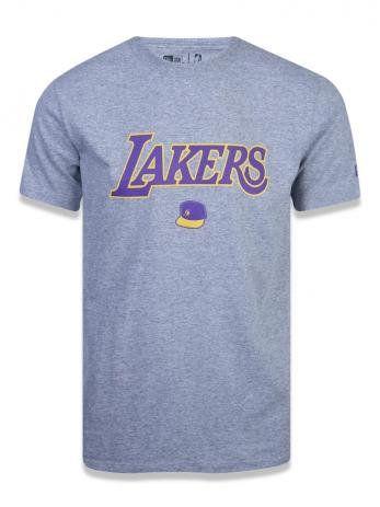 Camiseta New Era Lakers mescla masculina