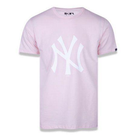 Camiseta New Era New York Básico esse rosa