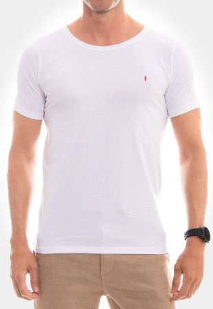 CAMISETA RED FEATHER Básica branca masculina